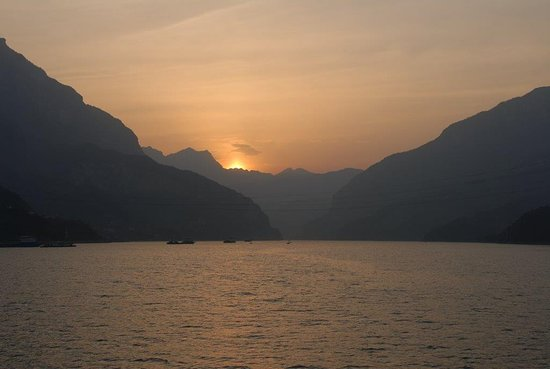 Wonderful sitting out for sunsets as we sailed along