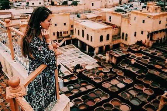 在Fes Medina的歷史和文化步行
