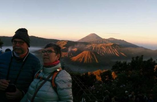Widespread Volcanic Landscape From Penanjakan Bromo and other Mountain Peaks
