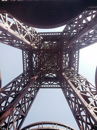 View of Eiffel tower from the center