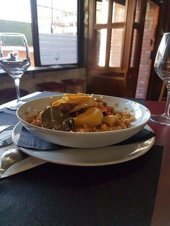 Chep: arroz con salsa de verduras y dorada a estilo paella!