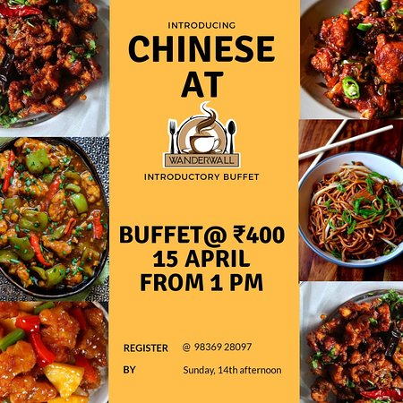 Introductory offer celebrating Poila Baishakh and new Chinese cuisine launch.  Chinese buffet @ Rs 400 only.  15th April, 1pm-4pm. Register at 98369 28097