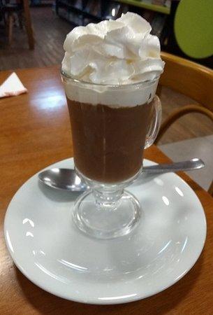 Chocolate Gourmet gelado com chantili