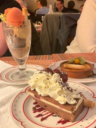 Dessert was amazing.  The Black Forest Cake (nearest) was best dessert I've ever had. :-)