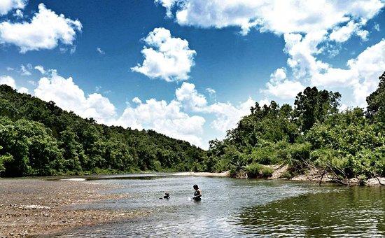 Van Buren, MO: Swimming in Current River
