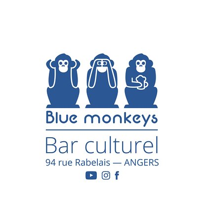 logo  blue monkeys