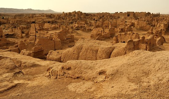 Turpan, China: The ruins of jiaohe .world oldest mud city