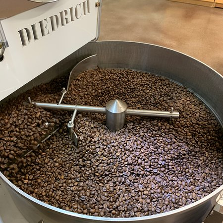 We roast our own coffee at our Statesville Roastery.