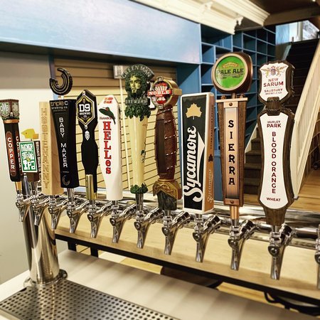 Craft Beer and wine are available including several North Carolina breweries.