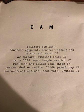 C.A.M. Ste: Rough interior but excellent food