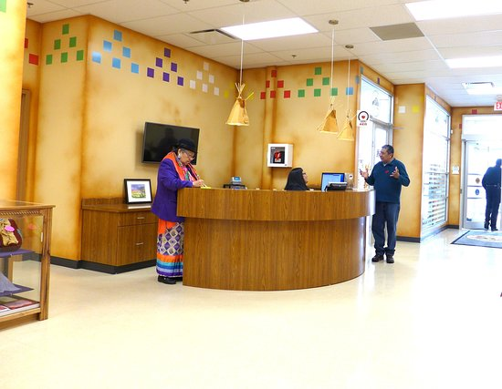 Tsuu T'ina Culture Museum: Museum Lobby with Director Jeannette Starlight