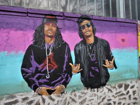 """Fresque """"Les Twins"""""""