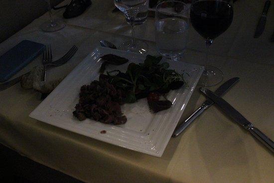 Plelan-le-Grand, France: Pas très clair mais il s'agit de l'entrée: Salade de gésiers et magret.