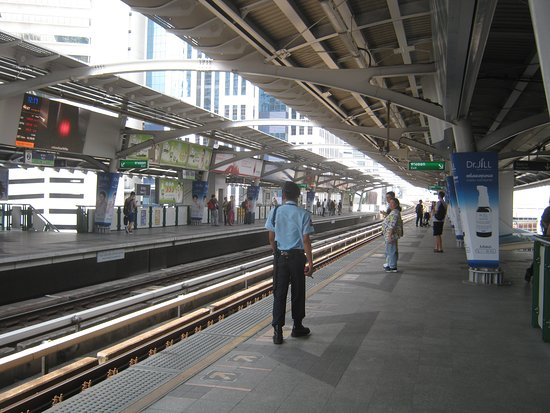 Skytrain wait platform