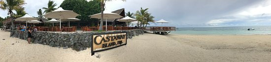 Castaway Island (Qalito), Fiji: Panoramic view Castaway Island Resort