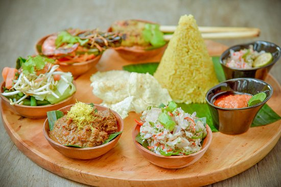 Balinese Rijsttafel, most popular dish in Indonesia  - Picture of