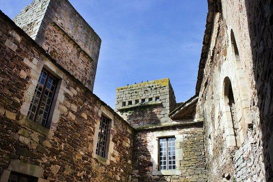 Chateau de Latour: Cour intérieure avec vue sur l'ensemble de la bâtisse.