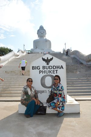 Our lovely Mom Prem Kumari on 9 May 2018 with Peace Sati and Manoj Rana visited @ Big Buddha Phuket Thailand.Photo Cr Joman Rana Butwal