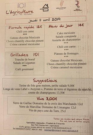 Baraqueville, Γαλλία: Chaque jeudi un menu de pays différent