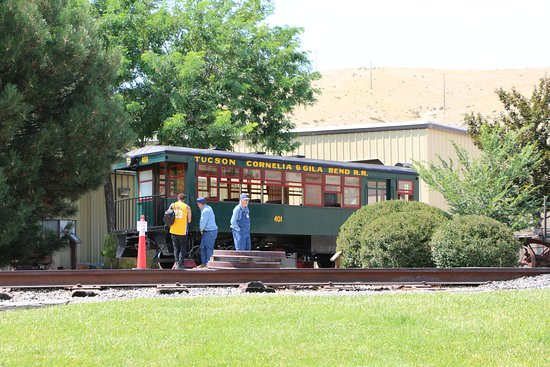 Nevada State Railroad Museum: Visitors can take a ride around the museum grounds. On this day they were operating the Edwards Motor Car.