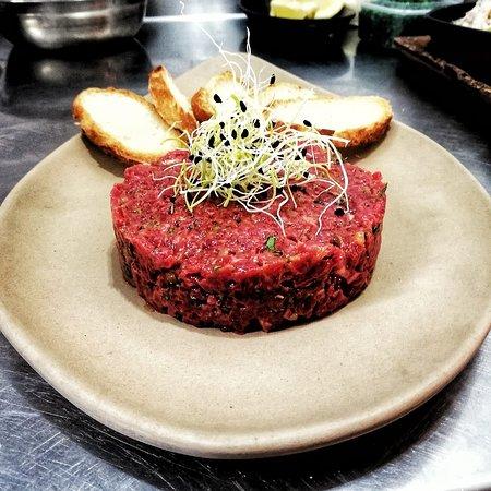 Hand-cut steak tartare