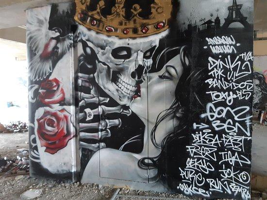 """Fresque """"Le b aiser de la mort"""""""