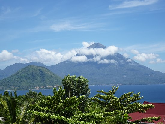 Ternate, Indonesia: View from balcony of our room