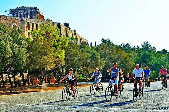 Tour durch Athen mit dem Fahrrad