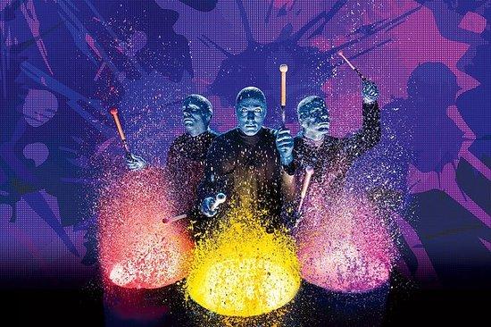 Blue Man Group-show på Universal...