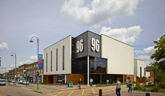 Borehamwood, UK : View of 96 from Shenley Road high street