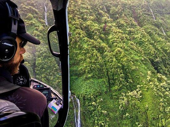 Tour a las puertas del helicóptero...