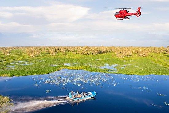 来自达尔文的玛丽河湿地直升机和飞艇冒险