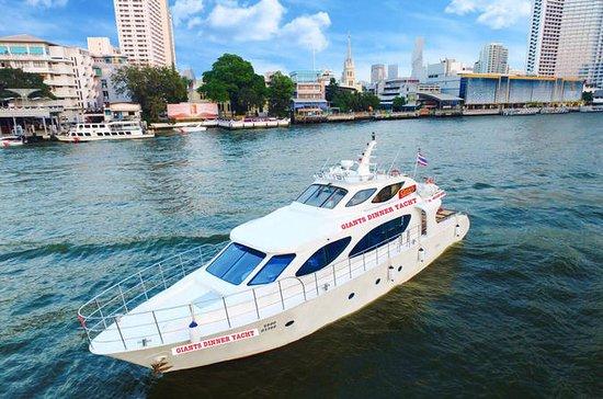 Cruzeiro romântico com jantar no Rio Chaopraya, passeio exclusivo pela cidade com jantar no Yacht Giants: Romantic Dinner Cruise Chaopraya River, Exclusive Dinner Yacht Giants City Tour