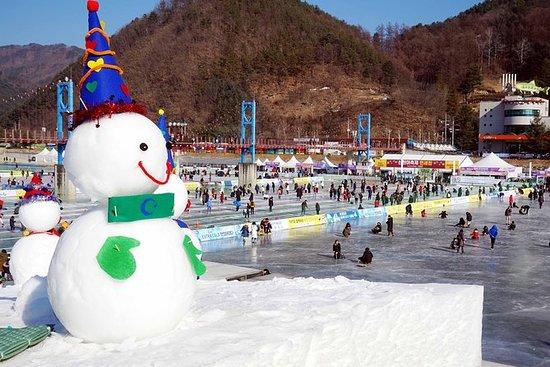 Festival de Pesca no Gelo na Coréia do...