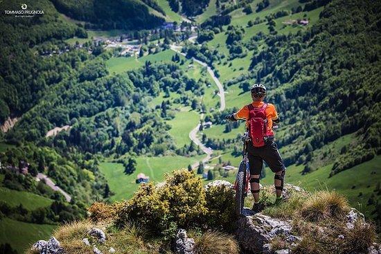 Excursão de bicicleta no Monte Baldo
