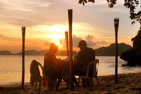 Romantisk solnedgång och ...