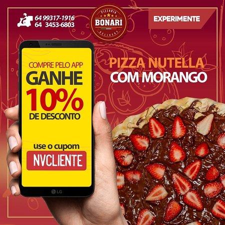 Pizza Grande - Nutella com Morango.