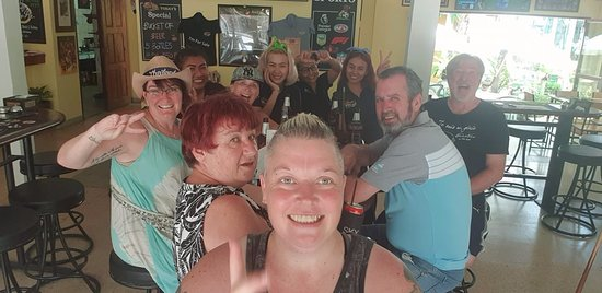 Just your average day/night relaxing with friends at Legends Sports Bar & Grill in Patong