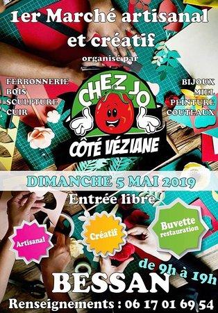Chez Jo Restaurant Pizzeria: Notre premier marcher artisanal et créatif dimanche 5 mai 2019 . #CHEZJORESTO
