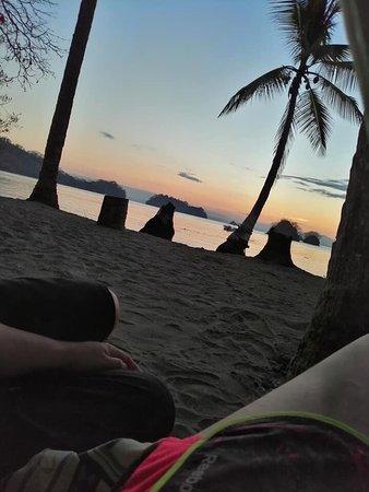 Isla Cedros, Costa Rica: Tour de Bioluminiscencia una pequeña isla con habitantes muy amables y serviciales   No hay internet y la señal celular es escasa, pero no hace falta, se acampa frente a la playa ver el amanecer es sorprendente.  El lugar cuenta con duchas y sanitarios el espectáculo ocurre en las noches sin luna nadar en el mar junto con unas pequeñas algunas que generan un fenómeno de bioluminiscencia el cual no puede ser captado en video ni fotos pero si queda grabado en la memoria. Algo que se debe vivir
