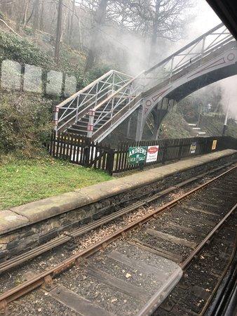 Haverthwaite, UK: Steam train