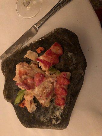 Natalie's Restaurant: One course of lobster tasting menu