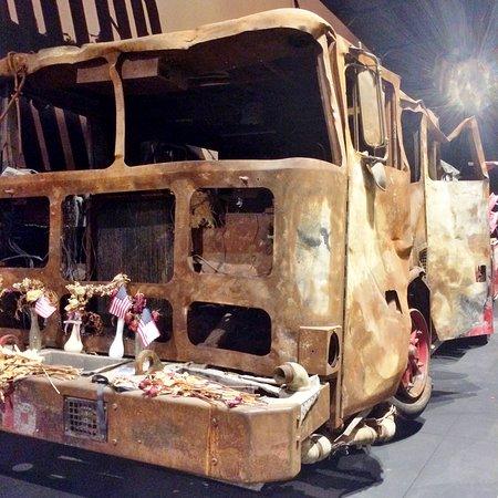 Fire truck in 9/11 exhibit.