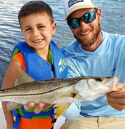 Even Had time after Sharking to sneak back in for someone's first #snook