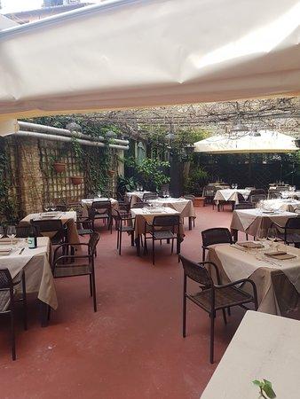 giardino del ristorante ribot