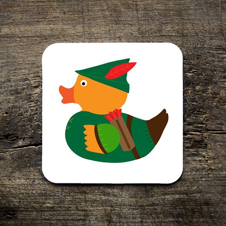 Dukki Ltd: Robin of Duxley, Our very first DUKKI character, and now part of 10 other in the series. Featured on several products, including Limited edition magnets. A great souvenir for anyone visiting Nottingham