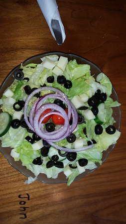 Sidney, NY: House salad. The dressing came on the side in a plastic to go container