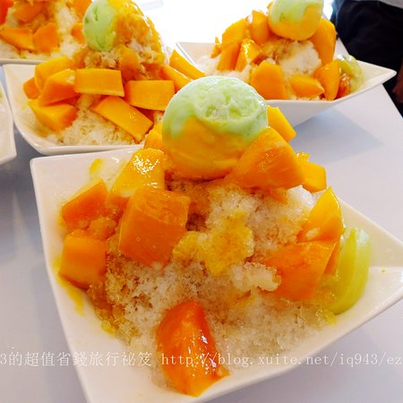 Yujing, ไถหนาน: Delicious Mongo ice at Tainan, Taiwan. 玉井芒果冰。
