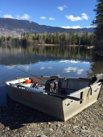New Hazelton, Kanada: First fishing expedition of the season. Ross Lake near Hazelton