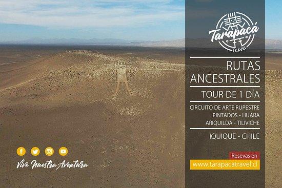 Регион Тарапака, Чили: Gigante de Atacama, Gigante de Tarapacá o Geoglifo de Cerro Unita, es una gran figura de 119 metros de largo trazada en el flanco noroeste del cerro Unita, a 15 km del pueblo de Huara (Comuna de Huara, Provincia del Tamarugal, Región de Tarapacá, Chile), territorio comprendido en el desierto de Atacama.